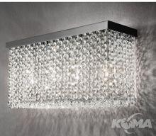 Cubo kinkiet długi wykończenie chrom  szlifowane szkło - half cut glass