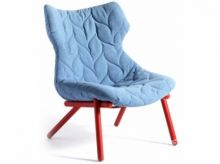 Foliage fotel 70x90x80cm trevira niebieski/czerwony