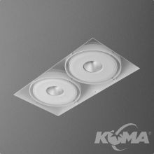 Squares lampa wpuszczana 2x8W LED 230V biała (mat) neutralna barwa CRI>80