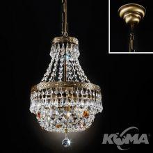 Sheraton żyrandol lampa wisząca 3x40W E14 230V mosiądz/patyna
