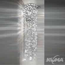 Impero&deco kinkiet kryształowy transparentny cięte szkło  2x40W E14 chrom half cut  glass