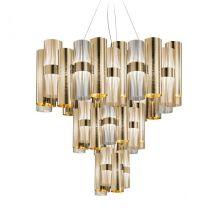 La Lollo lampa wisząca 100W LED 2700K 230V gold fume