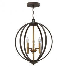 Euclid 3 lampa wisząca 4x60W E14 230V brąz