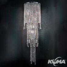 Impero&deco kinkiet kryształowy transparentny cięte kryształ  8x40W G9 chrom cut  crystal