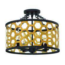 Felix 4 plafon lampa sufitowa 4x60W E14 230V słoneczny złoty