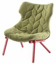 Foliage fotel 70x90x80cm trevira zielony/czerwony