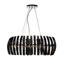 Corto Ovale lampa wisząca 8x40W G9 230V czarna/chrom