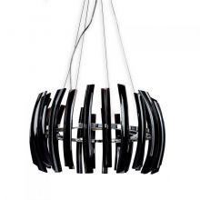Corto Rondo lampa wisząca 8x40W G9 230V czarna/chrom