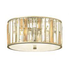 Gemma lampa sufitowa srebro płatkowe 3 x 100W E27