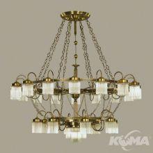 Stäbchenserie żyrandol lampa wisząca 25x60W E27 230V antyczny mosiądz/patyna