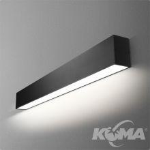 Set Tru kinkiet hermetyczny 86cm 34.2W LED 230V czarny (mat) ciepła barwa CRI>80