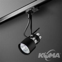 Reflektor na szynoprzewód czarny (mat) 1x50W E27 230V
