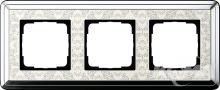 Ramka potrójna ClassiX Art chrom-kremowy
