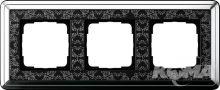Ramka potrójna ClassiX Art chrom-czarny