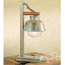 Amarras lampka stołowa 1 x E27 60W antyczna zieleń