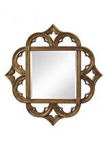 Carolyn mirror lustro postarzane złoto