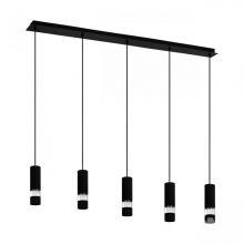 Bernabeta lampa wisząca czarna 5x5W GU10