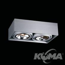 Box lampa sufitowa 2x50W G53 12V aluminium