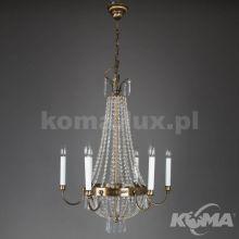 Lampa wisząca 6x40W E14 230V patyna