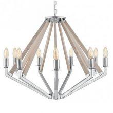 Nez lampa wisząca chrom/dąb9x40W E14