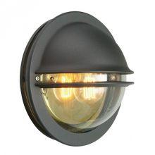 Berlin kinkiet zewnętrzny 1x46W E27 230V czarny/transparentny dymiony klosz