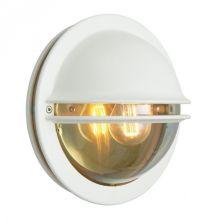 Berlin kinkiet zewnętrzny 1x46W E27 230V biały/transparentny dymiony klosz