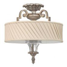 KINGSLEY lampa sufitowa srebro płatkowe 3x75W E27