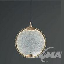 Horo s1 lampa wisząca mosiądz z dyfuzorem szklanym transparentnym 14,4W led 3000K