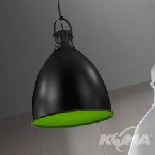Swing lampa wisząca 1x40W E27 230V czarna/zielony