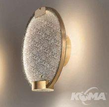 Horo  kinkiet ścienny mosiądz / szkło transparentne tr 14,4W led 3000K 1296lm