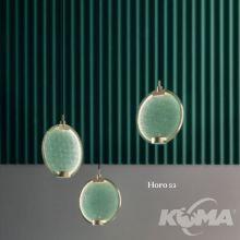 Horo c3 lampa wisząca mosiądz / zielone szkło vd  3x14,4W led 3000K