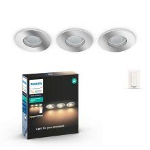 Adore zestaw wpuszczanych opraw chrom 3 szt x 5W LED GU10  Łazienka IP44