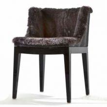 Mademoiselle kravitz fotel 55x52.5x74cm czarny-fur-python