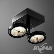 Bares reflektor czarny (mat) 2x100W AR111 230V