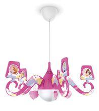 Princess lampa wisząca 1x15W E27 230V różowa