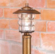 Model 1606 korona lampy stojącej zewnętrznej IP44 1x28W E27 brąz ziemisty / szkło bąbelkowe