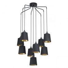 Bernabetta lampa wisząca czarna/złota 9x40W E27