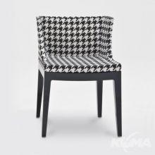 Mademoiselle fotel 55x52.5x74cm czarny-pepitka