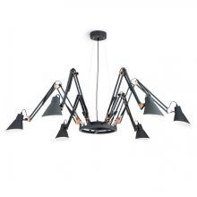 Bachelor lampa wisząca 6x60W E27 230V czarna/miedź