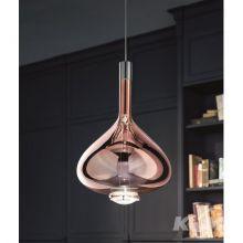 Sky-Fall lampa wisząca 36cm. 2x10W LED 230V różowe złoto-chrom