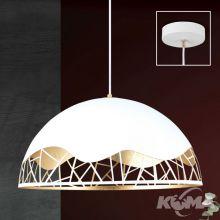 Trance lampa wisząca 1x60W E27 230V biała/złota