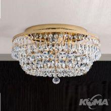 Sheraton plafon sufitowy Ø35cm złoty kryształ SCHÖLER CRYSTAL® 3x40W E27 230V