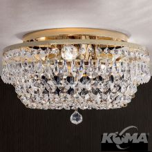 Kristall plafon 3x40W E14 sr.35cm gold