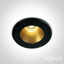 Fokas oprawa wpuszczana w sufit 1W/3w 3000K 200lm led dark light czarny-mosiądz