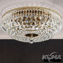 Kristall plafon 6xE14 sr.45cm gold