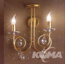 Kinkiet scienny 2xe14 40W gold-matt