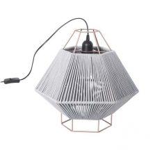 Legato lampa stołowa 1x60W E27 230V szaro-czarna/miedziana