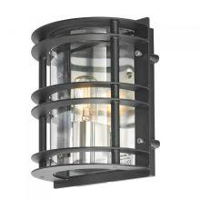Stockholm 2 kinkiet zewnętrzny 1x46W E27 230V czarny/transparentny klosz