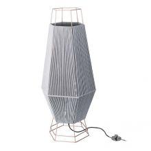 Legato lampa podłogowa 1x60W E27 230V szaro-czarna/miedziana