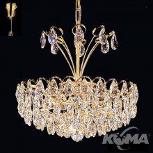 Kristall oprawa osw. 5pl 40W/E14 sr.40cm gold